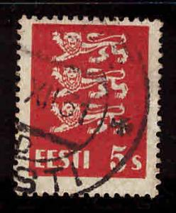 Estonia Scott 93 used from 1928-1940 Arms set
