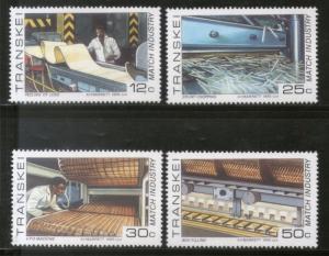 Transkei 1985 Match Box Industry Machinaery Sc 163-66 MNH # 1767
