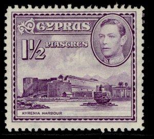 CYPRUS GVI SG155a, 1½pi violet, NH MINT.