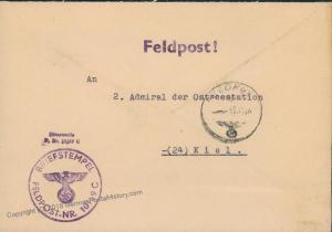 3rd Reich Kriegsmarine Navy Norway Feldpost 46989