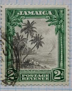 Jamaica sc#106 used 2d stamp