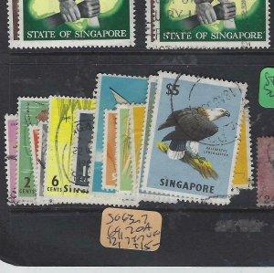 SINGAPORE  (PP2901B)  SG 63-7, 69, 70A, 72, 74-7   VFU