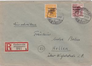 Germany Soviet Zone 1948 Finsterwalde to Hollen stamps cover  R20715