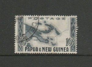 Papua New Guinea 1952 Defs 10/- FU SG 14