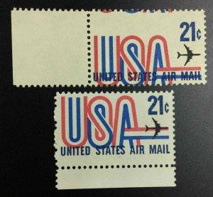 MOMEN: US STAMPS #21c VAR. MISPERF / COLOR SHIFTS MINT OG NH LOT #53016