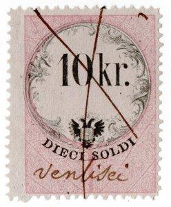 (I.B) Austria/Hungary Revenue : Stempelmarke 10k (Lombardy-Venetia)