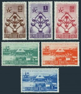 Haiti 417-C114,C114a,MNH.Mi 477-482,B.7. Universal EXPO Brussels-1958.Atomium,