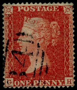 SG21, 1d red-brown PLATE 15, SC16 DIE II, USED. Cat £650. CERT. GH