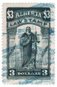 (I.B) Canada Revenue : Alberta Law Stamp $3