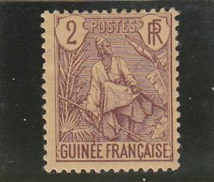 French Guinea  Scott#  19  MH  (1904 Fulah Shepherd)