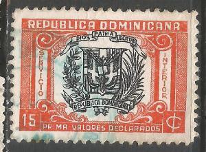 DOMINICAN REPUBLIC G9 VFU ARMS 602B-2