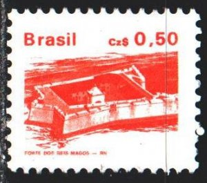Brazil. 1986. 2179a from the series. Fort Flight Magos in Natal. MNH.