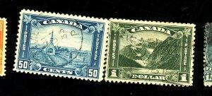 Canada #176-77 Used FVF 177 Creases Cat$42