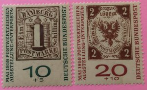 Germany B366a - 67a MNH stamps on stamps