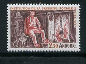 French Andorra #177 Mint Never Hinged