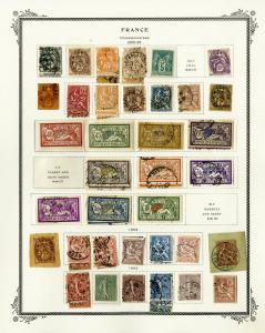 France 1900 to 1990 Overloaded Nearly Complete Stamp Collection