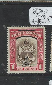 NORTH BORNEO (P1706B)  ROYAL CYPHER $1.00  SG347  MOG