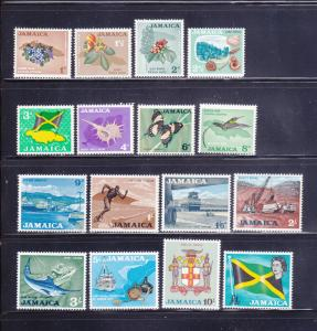 Jamaica 217-232 Set MH Various