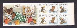 Latvia   #389-391a  MNH 1994  booklet  children`s fairy tales