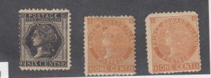 Prince Edward Island QV 1872 1c x 2 6c SG36/41 MH J9995