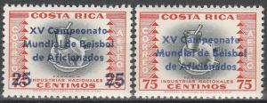 Costa Rica #C314-5   MNH VF (V3290)