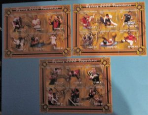 Mozambique - 1425-27, CTO Set, Sheets of 6. Olympic Medalists. SCV - $25.00