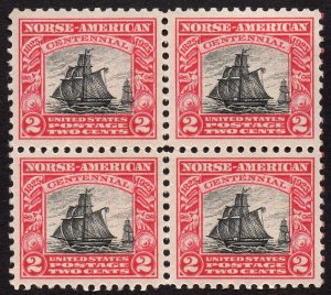 Us Stamp Scott Cat #620 mnh block of 4
