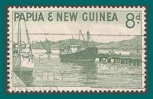 Papua New Guinea 1963 Ships at Port Moresby, used  #157,SG47