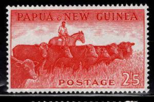 Papua New Guinea, PNG  Scott 145 MH* 1960 Cattle stamp