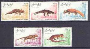 Sahara Republic 1991 Lizards complete perf set of 5 value...
