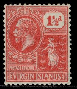 BRITISH VIRGIN ISLANDS GV SG90, 1½d carmine-red, M MINT.