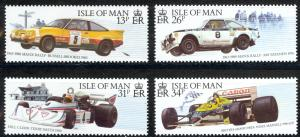 Isle of Man Sc# 359-362 MNH 1988 Car Racing