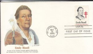 1980, Emily Bissell, Fleetwood, FDC (E7640)