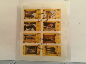 State of Oman Species  of Africa 1973  stamps Sheet R23508