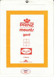 PRINZ 120X207 (4) BLACK MOUNTS RETAIL PRICE $6.25
