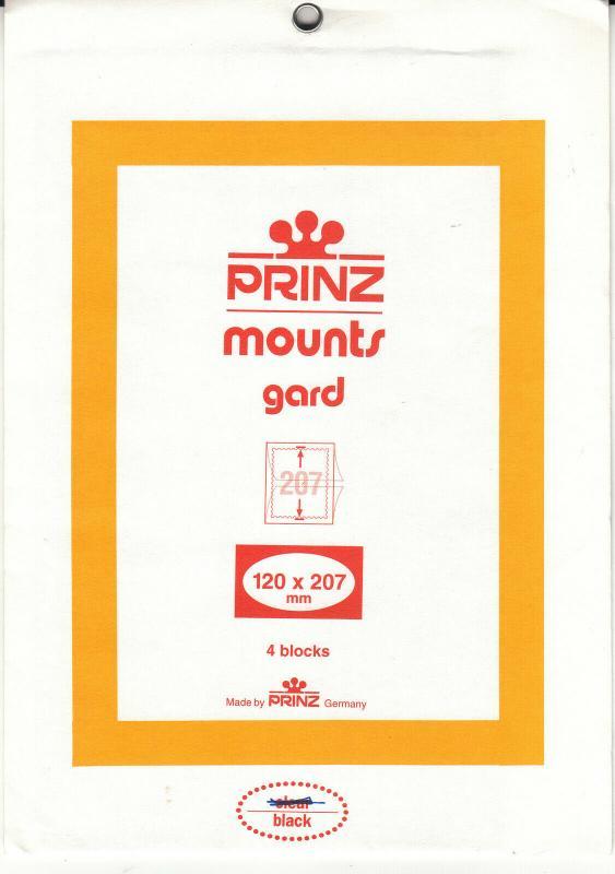 PRINZ 120X207 (4) BLACK MOUNTS RETAIL PRICE $6.25