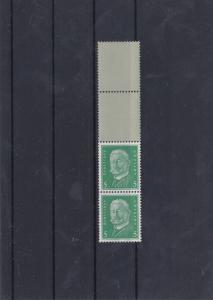 German Hindenburg 1928 Mounted Mint Stamps Pair Coloured Margin Ref: R6791