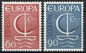 Norway 1966, Europa Issue 1966 MNH Sc 496-97