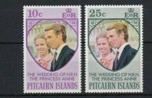 PN105) Pitcairn Islands 1973 Royal Wedding of Princess Anne MUH