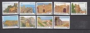 J26152  jlstamps 1996 greece set mnh #1843a-51a castles booklet stamps