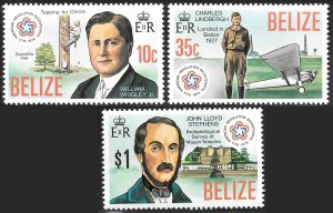 Belize # 374 - 76 Mint Never Hinged