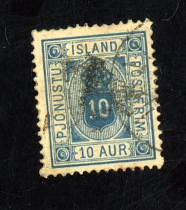 Iceland #O6 Used FVF HR Cat$21