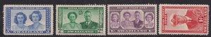 Swaziland 1947 KGV1 Set of 4 Royal Wedding stamps Umm SG 42 - 45 ( D990 )