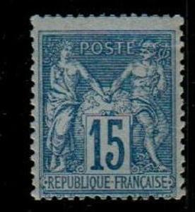 France Scott 92b Mint NH fine (light crease)