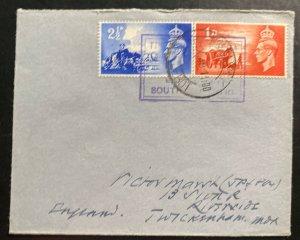 1949 Tristan Da Cunha Colony Paqueboat Cover To Riverside England