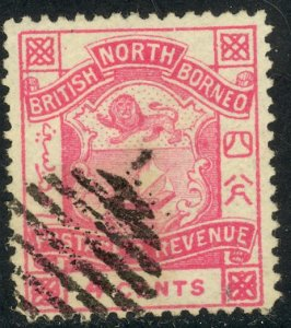 NORTH BORNEO 1887-92 4c COAT OF ARMS Issue Sc 39 VF CTO Used