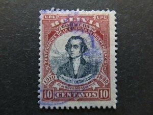 A4P31F55 Bolivia 1910 10c used