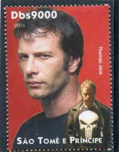 Sao Tome & Principe 2004 THOMAS JANE American Actor 1v Perforated Mint (NH)