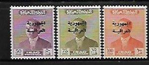 IRAQ, 218-220,  MNH, KING FAISAL II OVERPRINTED