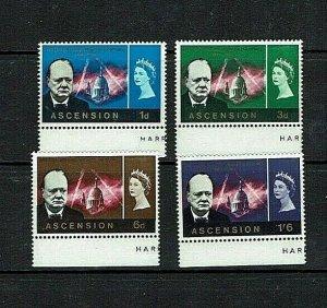 Ascension: 1966, Churchill Commemoration, MNH set